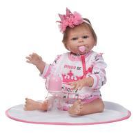 Популярные 50 см моделирование детские игрушки мягкие для новорожденных Кукла реборн подарок на день рождения