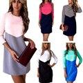 Missufe 7 Цвета Сращивания Лето Dress Для Женщин 2017 Vestidos Украина Ночной Клуб Оболочка Одеяние Линии Вскользь женщин платья