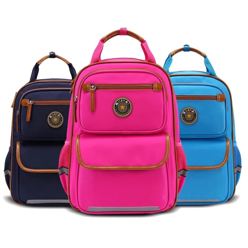 ФОТО High Quality Orthopedic School Bags for Kids Boys/Girls School Backpack Children School Bag Backpacks Bag Kid Wholesale