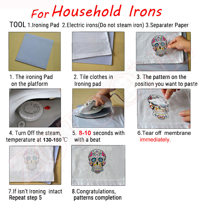 Girls Clothes Iron On Transfers patches Diy Accessory Decoration Heat Transfer Badges High Quality Stickers A Level Washable E in Patches from Home Garden