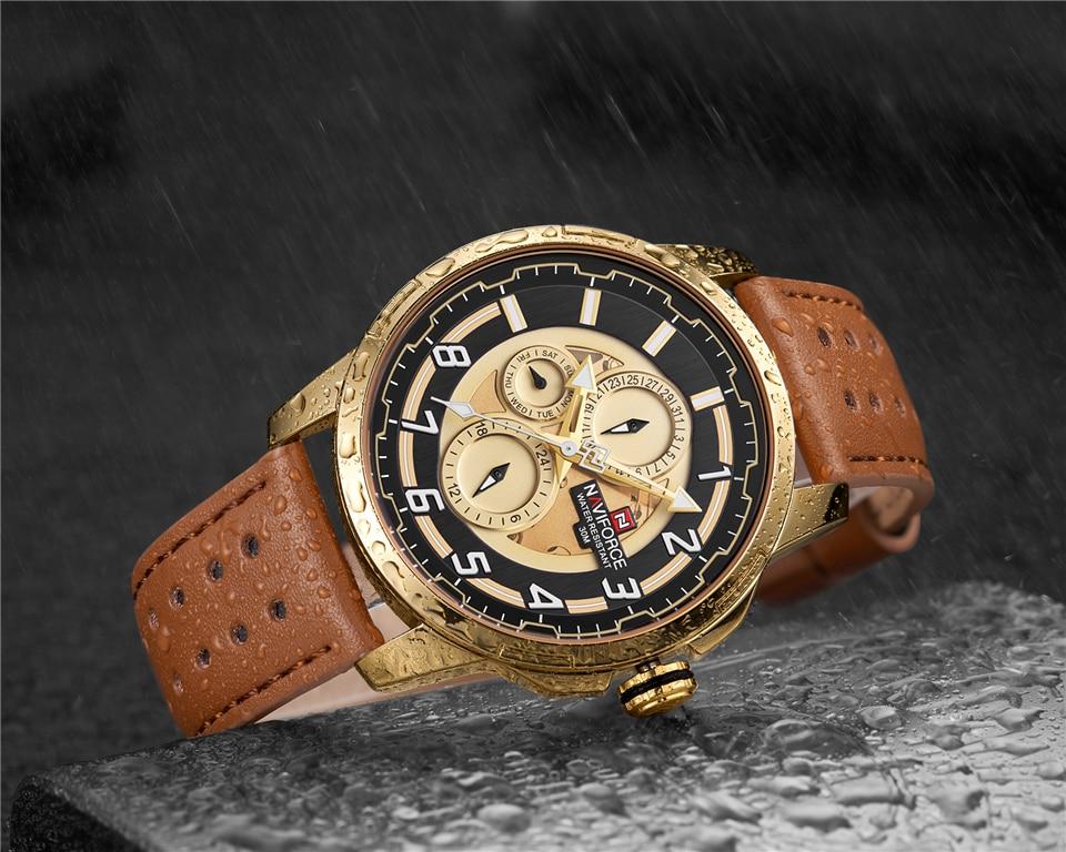 NAVIFORCE 9142 Genuine Leather Watch 6