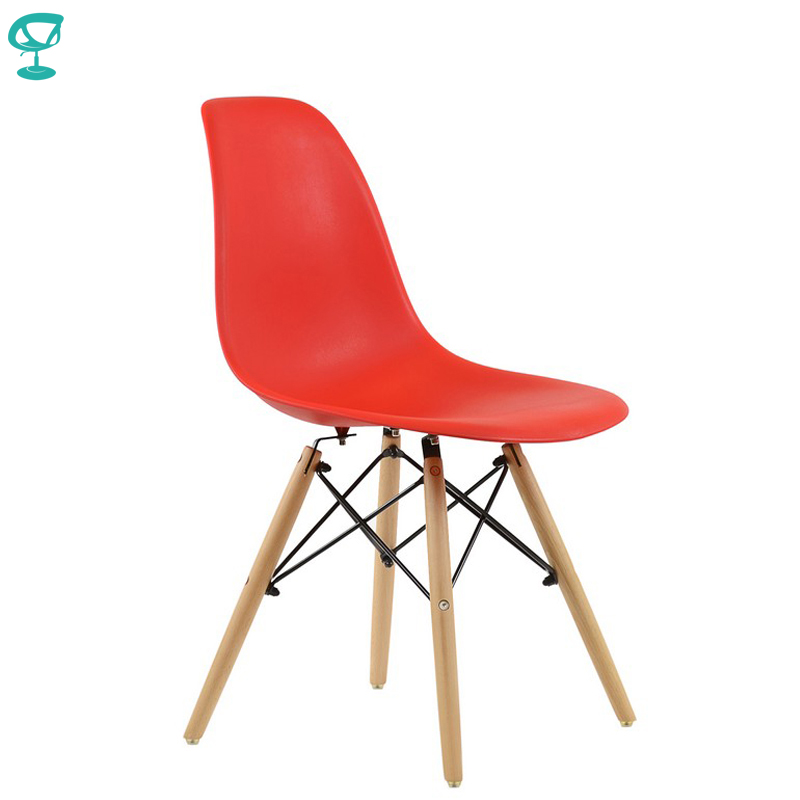 94989 Barneo N-12 Plastic Wood Kitchen Breakfast Interior Stool Bar Chair Kitchen Furniture Red Free Shipping In Russia