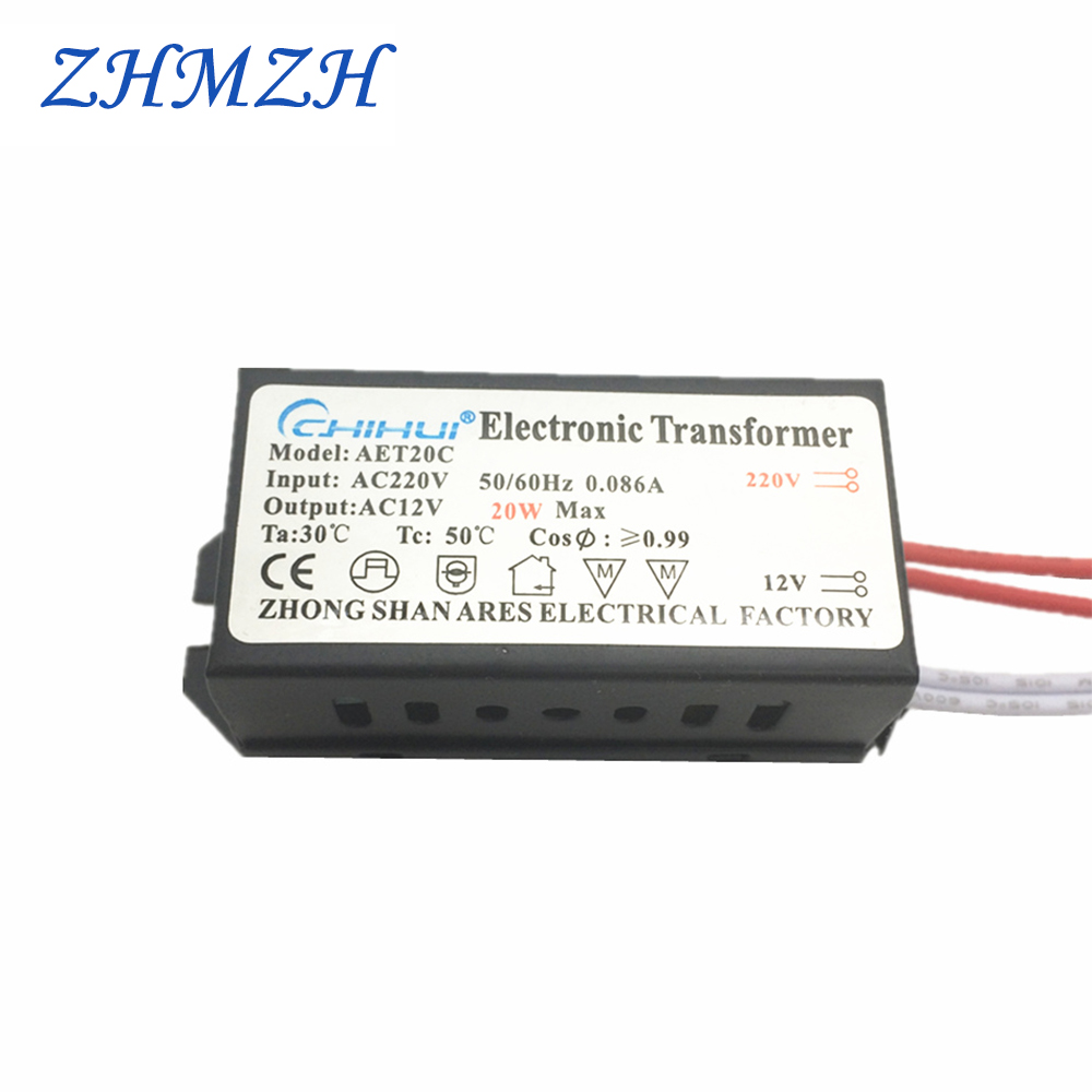 20W LED elektronički transformator LED napajač AC220V do AC12V za 12V MR11 MR16 G4 LED žarulje ili halogenske žarulje