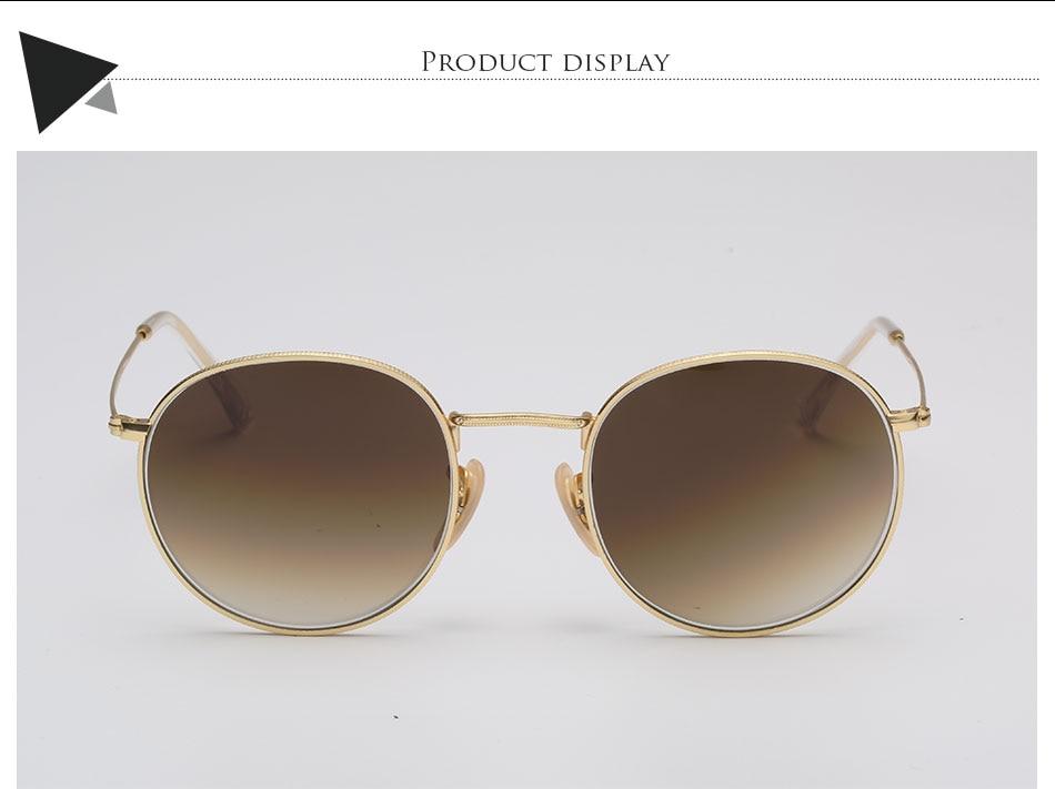 HTB1T28ffk.HL1JjSZFlq6yiRFXao - Luxury Round Sunglasses Women Brand Designer 2018 Retro Sunglass Driving Sun Glasses For Women Men Female Sunglass Mirror 3447