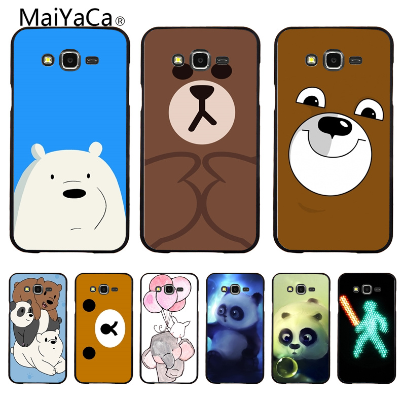 MaiYaCa Lets Celebrate Cute Bear Illust Art Colorful Cute Phone Case For Samsung Galaxy S6 S6 Edge S7 S7 Edge Mobile phone cover