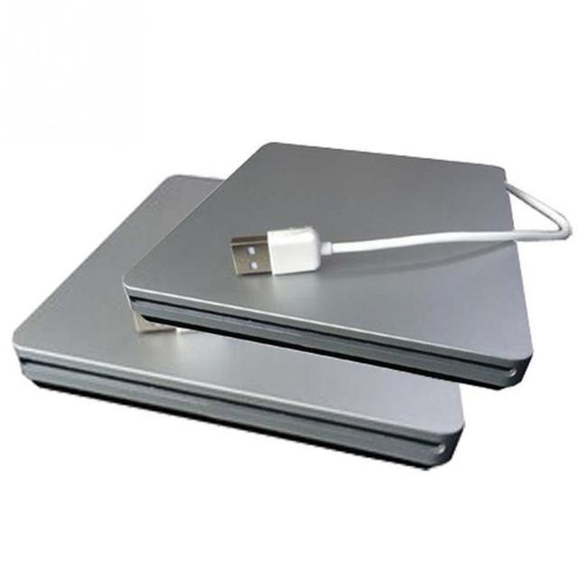2016 Ultra Fino Externo USB 2.0 CD-ROM CD-Driver CD/DVD Portátil Driver Óptico CD-Driver Para PC Laptop
