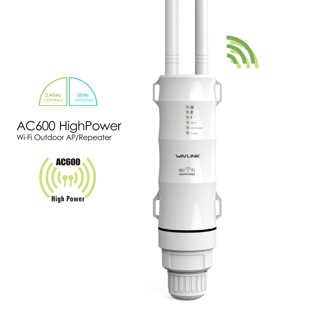 Wavlink Technology High Power Outdoor Weatherproof Wireless WIFI Router AP Repeater Dual Band Outer Detachable Antenna