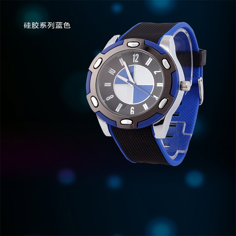Hot Sale wholesale Casual Watch Sports Leisure Silicone Band Round Analog Quartz Wrist Watch for Men Timer