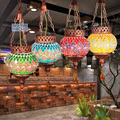 Mancoffee Retro Bohemia Colorido Peru Vidro da Luz de Teto Lâmpada do Sudeste Da Ásia