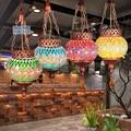 Mancoffee Retro Southeast Asia Bohemia Colorful Glass Turkey Ceiling Light Lamp