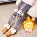 El envío libre 2016 nuevos niños casual leggings gruesos Mono Chica Decorativo 4 colores size110-160