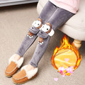 Free shipping 2016 new children's casual thick leggings  Monkey Decorative  Girl  4 color size110-160