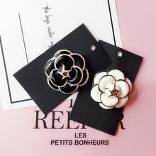 Broche de luxe camélia cc, grande marque, haute qualité, écharpe, boucle, broche de la saint-valentin, accessoires cadeaux pour femmes