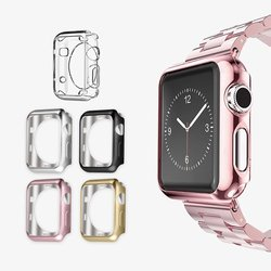 Para A Apple Série Relógio 2/3/4 TPU Scratch-resistant Flexível Soft Case Magro Leve Proteção Bumper cobertura 38/42/40/44mm