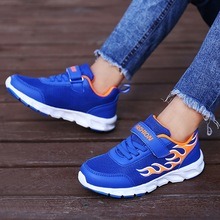 Spring new trend flame childrens sports shoes wear fashion comfortable breathable casual youth running