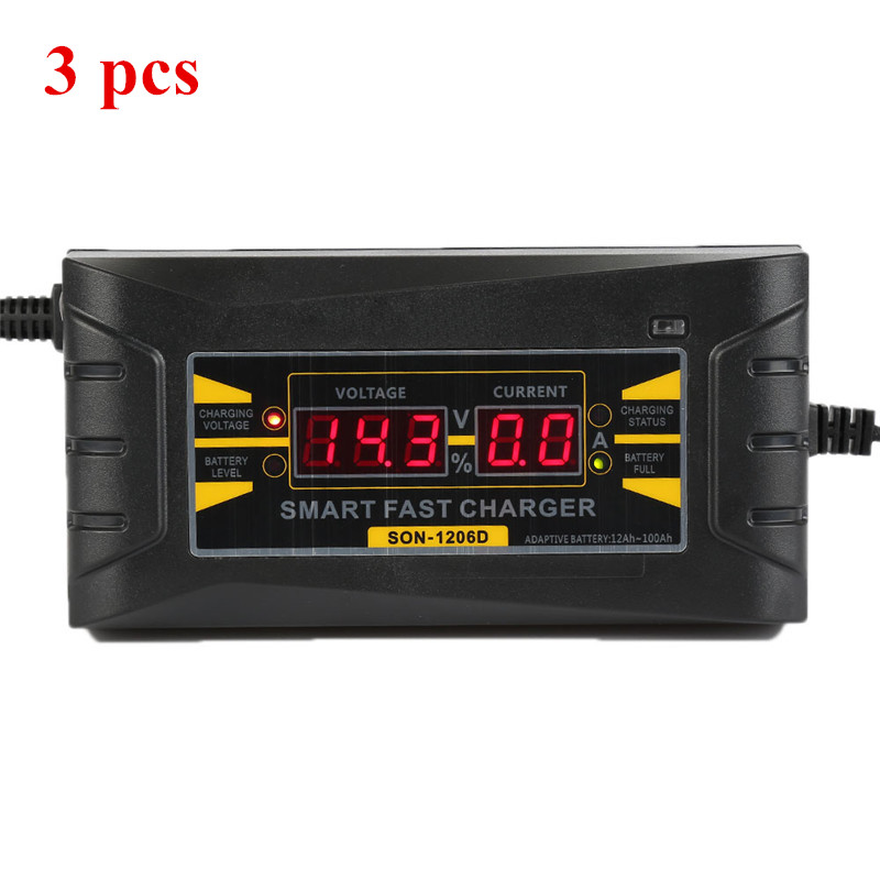 3 Pcs Full Automatic Car Battery Charger 110V 220V To 12V 6A Smart Fast Power Charging