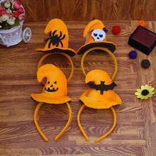 Dozzlor Halloween Pumpkin Sorceress Hat Witch Hat Fancy Dress Party Costume Cap Party Decor for Kids Cap Adult children Cosplay(China)