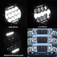 Pair 75W 7inch Led Headlights Bulb DRL For Jeeps Wrangler JK Hummer H1 H2 Harley Headlamp