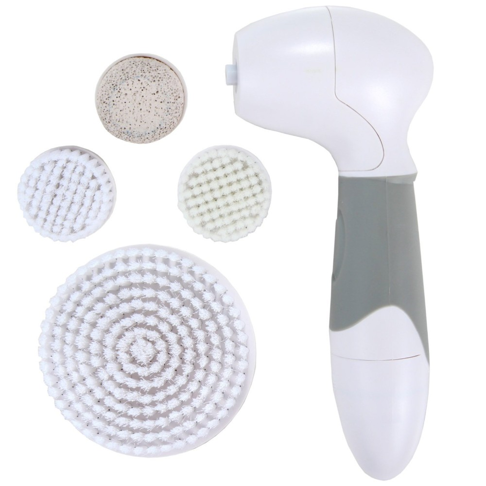 Women 4 in1 Skin Beauty Care Electric Facial Cleanser Rotary Brush Wash Face Spin Body Cleaning Foot Care Blackhead Clean Tools 14