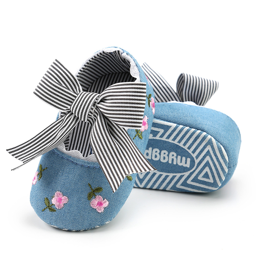 Princess-Shoes Crib First-Walkers Canvas Anti-Slip Soft-Soled Infant Toddler Baby-Girls