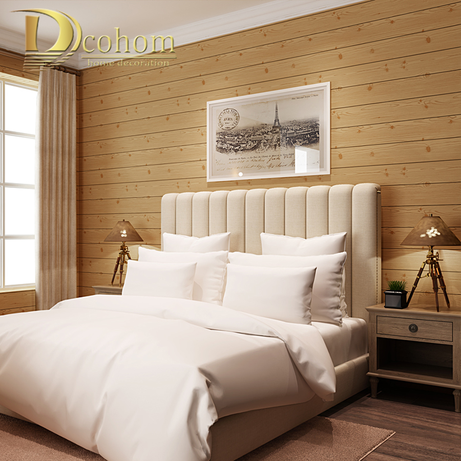 Non-Woven 3D Wall Paper Rolls For Walls Classic Wood Textured  Wallpaper For Bedroom Living Room Sofa TV Background Decor