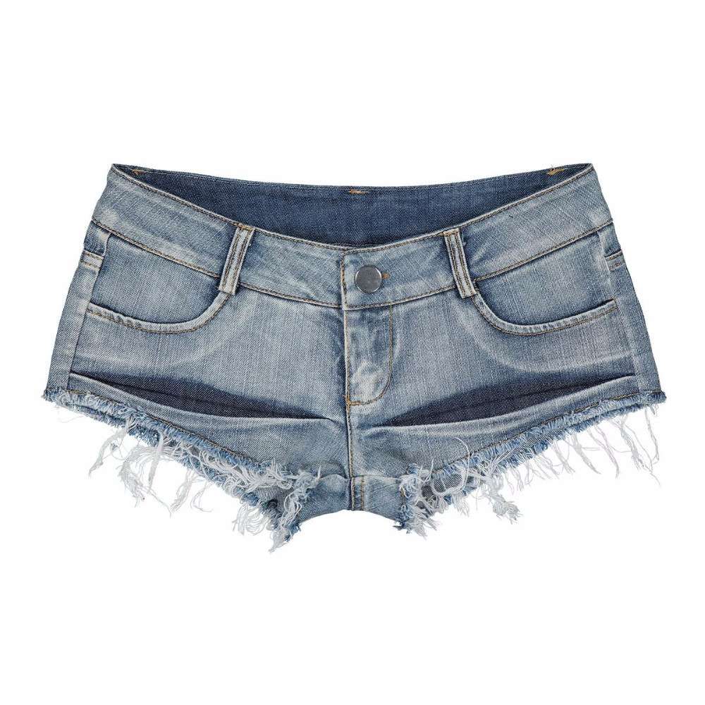 Hot Sexy Women Vintage High Cut Tassel Hot Short Low Rise Waist Sexy Jeans Shorts Low Cute Bikini Micro Mini Short Club Wear FX3