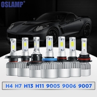 Olsamp 72w Pair COB Chips H4 H13 Hi Lo Beam H7 9005 HB3 9006 HB4 H11
