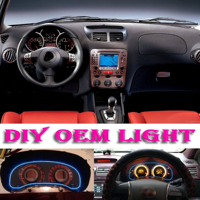 Car Atmosphere Light Flexible Neon Light EL Wire Interior Light ...