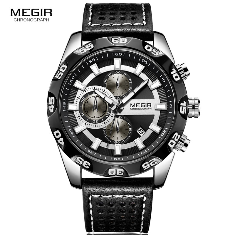 2019 Style Fashion Watches Super Man Luxury Brand MEGIR Watches Men Women Men's Watch Retro Quartz Relogio Masculion For Gift