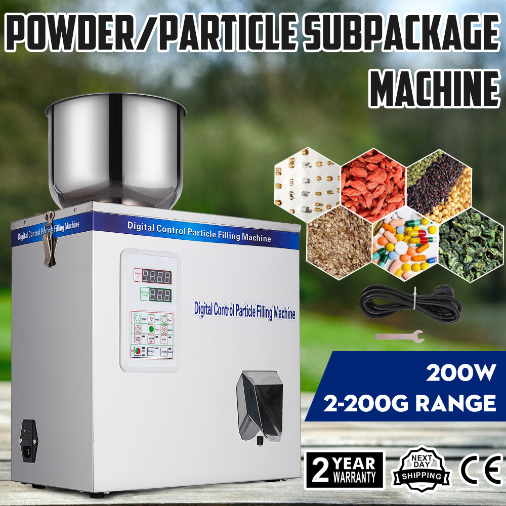 New 2-200g Powder Particle Subpackage Device Spices Weighing And Filling MachineNew 2-200g Powder Particle Subpackage Device Spices Weighing And Filling Machine