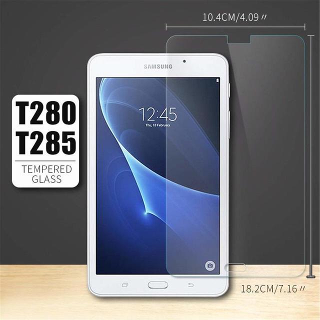 9 H Protector de pantalla de vidrio templado para Samsung Galaxy Tab A A6 7,0 2016 SM-T280 SM-T285 7,0 pulgadas Tablet templado de guardia