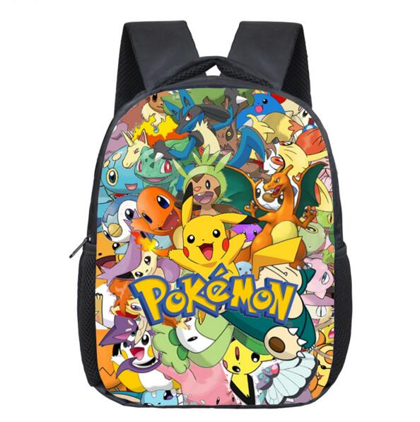 86f8ad95de2e Anime Pokemon Backpack Pocket Monster School Bag Ash Ketchum Pikachu School  Backpacks Girls Boys Daily Bag Kids Book Bags