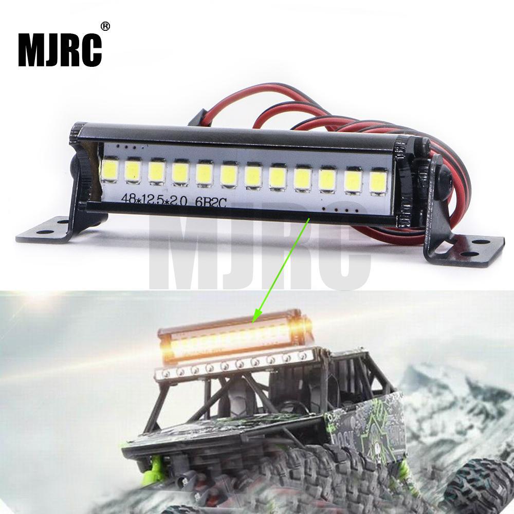 50mm RC LED Light Bar LEDs Lamp 1:10 RC Car Part for TRX4 90046 90048 SCX10 bright LED lights cool accessory for model car 2019(China)