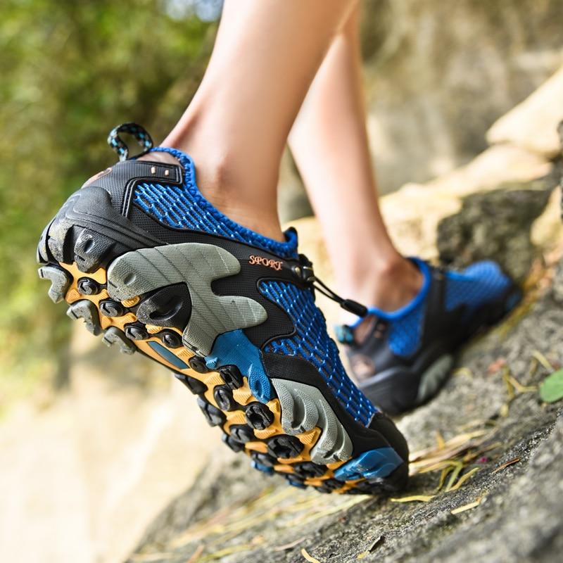 Pria BARU Mendaki Sepatu Hulu Mendaki Berjalan Terbuka Olahraga - Sepatu kets - Foto 5