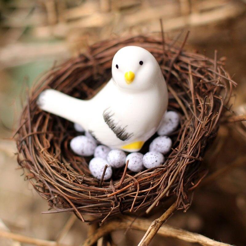 4 Size New Handmade Vine Brown Bird Nest House Home Nature Craft Holiday Decoration  流水 盆 養魚