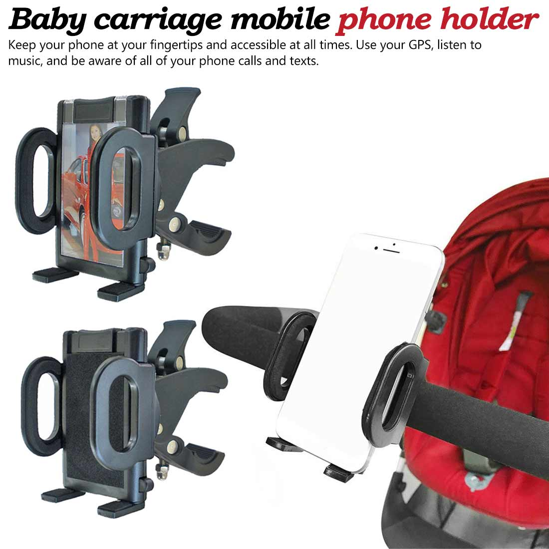 1pc Baby Stroller Mobile Phone Stander Children Cart Accessories Baby Carriage Outdoor Bracket Cellphone Mount Holder