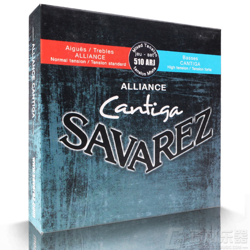 Savarez 510 Cantiga Series Alliance/Cantiga Normal/High Tension Classical Guitar Strings Full Set 510ARJ olympia brand classical guitar string 1 set 6 strings high quality clear nylon strings normal or hard tension original
