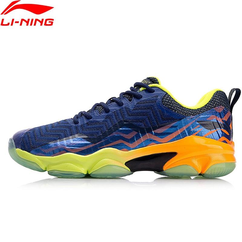 Li-Ning Homens MALHA Sapatos Badminton Profissional de SONIC BOOM LN BOUNSE + Almofada Forro Wearable Sapatos de Desporto Sapatilhas AYZN011 XYY073