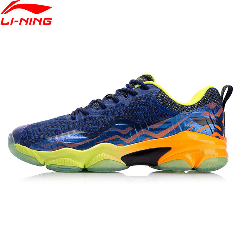 Li-Ning Hommes SONIC BOOM SOUDÉ Professionnel Badminton Chaussures LN BOUNSE + Coussin Doublure Portable Sport Chaussures Sneakers AYZN011 XYY073