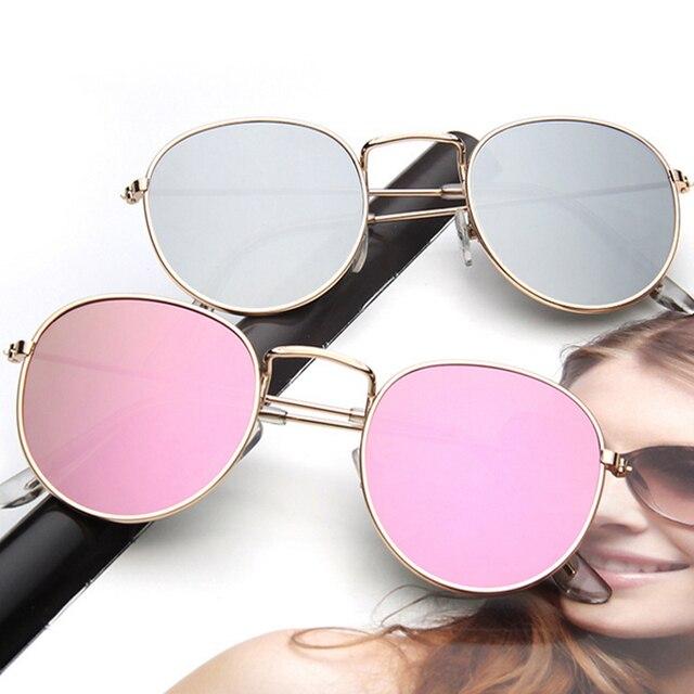 WISH CLUB 2017 Retro Round Sunglasses Women Brand Designer Sun Glasses For Women Alloy Mirror Sunglasses female oculos de sol