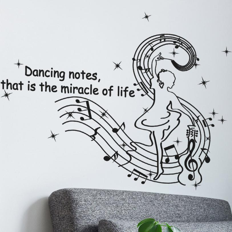 Dancing musical notes wall stickers creative wall stickers for Stickers muraux