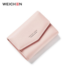 WEICHEN new Korean Design Women Wallet Short Lady Wallets lovely Small Purse PU Leather Crad Holder Coin Bag Cultch Card Holder