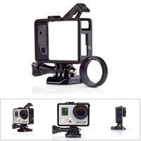 GoPro Geavanceerde Snelle Vaste Standaard + Bacpac 2-in-1 Nieuwe Frame mount + uv beschermende lens set voor gopro hero4/Hero3 +/Hero3