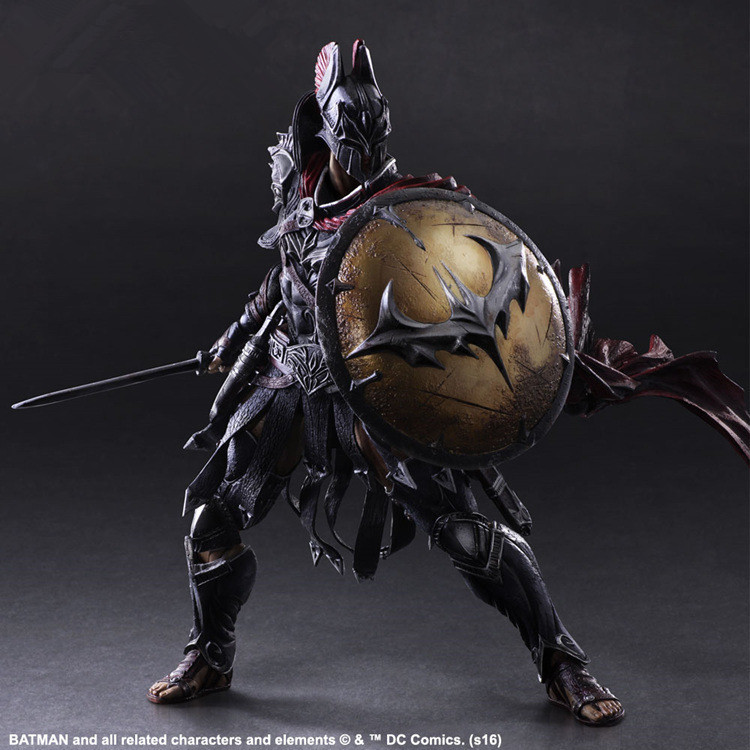 play arts Spartans Batman v Superman Dawn of Justice Arkham Knight Batman DC PVC 27CM Action Figure Collection Model Kids Toy polmedia polish pottery 5 inch stoneware bowl h7021e hand painted from cer maz in boleslawiec poland shape s187c 34 pattern p6200a d58