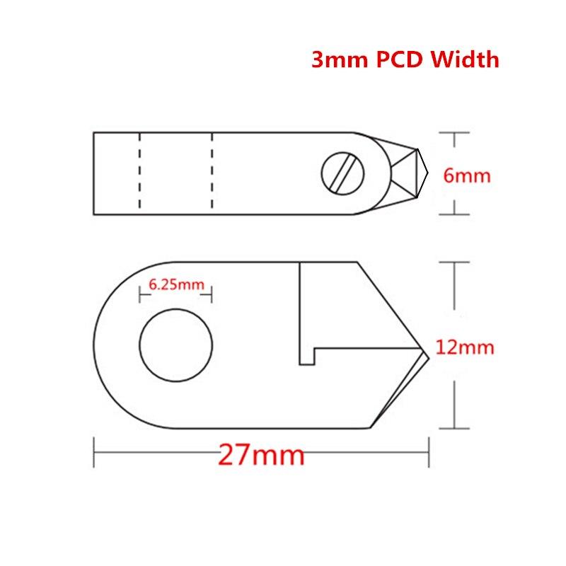 """""""Posalux V"""" deimantiniai įrankiai, 3 mm PCD, supjaustytas - Elektrinių įrankių priedai - Nuotrauka 5"""