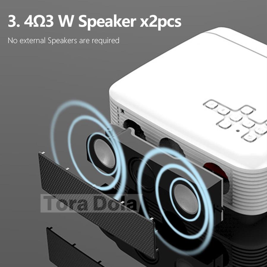 TORA dole projecteur LED Android 7.1OS. Meilleur MINI projecteur HD. 1280x720 résolution Home Cinema, 1080P Beamer WIFI TD01 - 3
