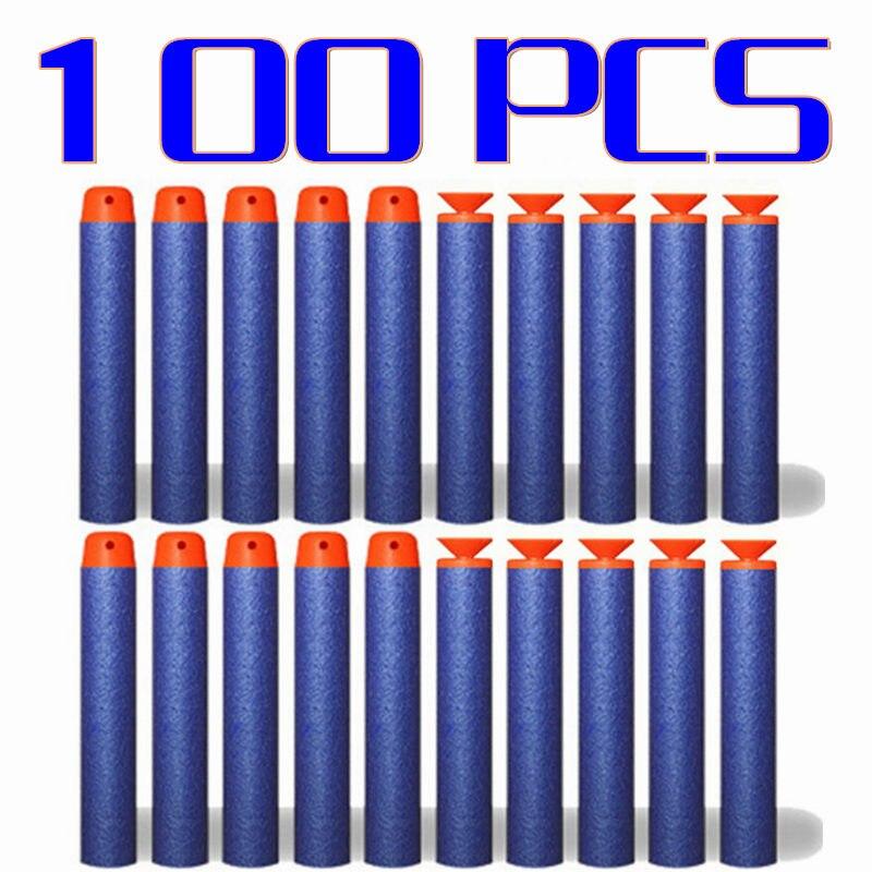 100 шт. 7.2 см EVA мягкий синий пуля для пневматики военные присоски Dart Стандартный дырочку головы для детей пули для Nerf игрушечный пистолет