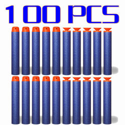 100 pcs 7.2cm EVA soft blue bullet for airguns military sucker dart Standard hollow hole head for kids bullets for nerf toy gun