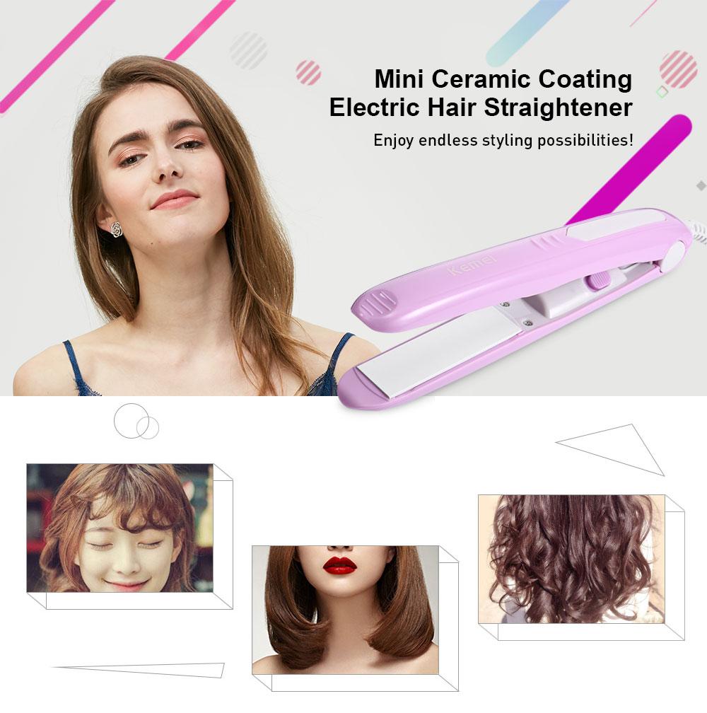 Kemei KM-331 Mini Revestimento Cerâmico Cabelo Liso Elétrico alipearl cabelo unice cabelo Display LCD Alisamento Flat Iron Digital