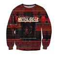 New Arrive Style  Sweatshirt Crewneck Metal Gear crewneck hoodies Solid Casual Jumper sweatshirts winter sweats